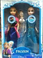 Эльза и Анна музыкальные набор Frozen, выс 30 см
