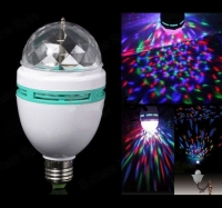 Вращающаяся светодиодная лампа+ вилка для нее